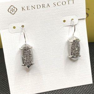 Kendra Scott Harrison Drop Earrings Drusy NWT